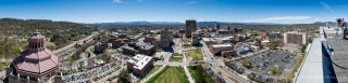 Asheville, NC Panorama from Buncombe County Courthouse Roof