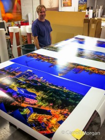 4' and 6' panoramic prints at Digital Picture, Inc. for ArtNight