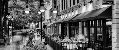 Charlottesville downtown mall photography at dusk - The Downtown Grille